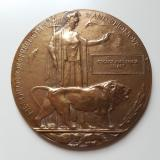 WWI Death Penny / Plaque